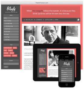 Бесплатная WordPress-тема Blogly Lite для персональных блогов