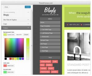 Тема Blogly