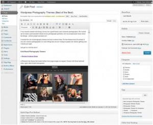 Изменение размера визуального редактора WordPress