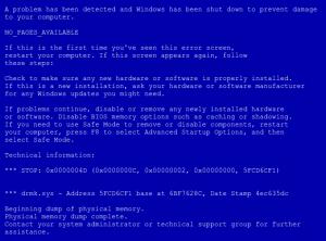 Синий экран смерти Windows