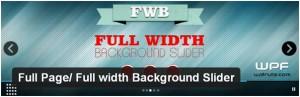 Full Page/Full Width Background Slider